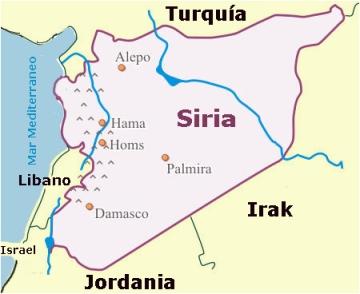 Localización de Siria en el mapa