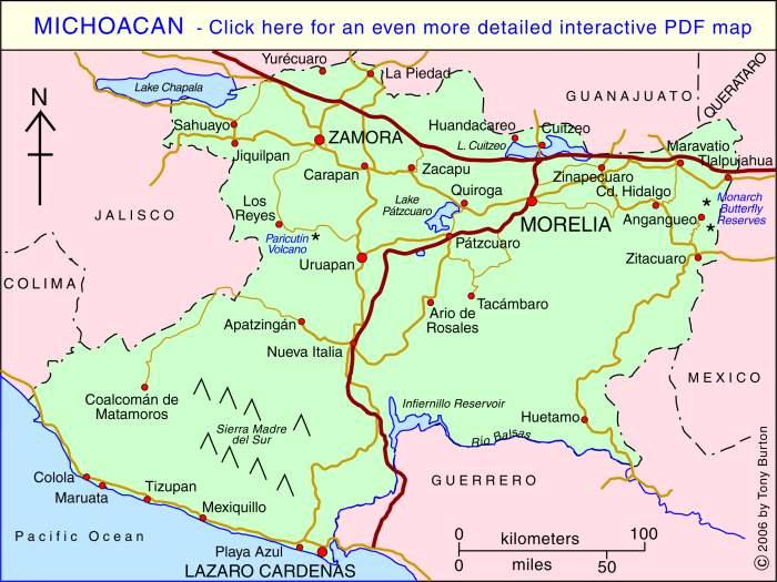 Falling Water In National Park In Uruapan Michoacan Stock ...  |Water Maps Michoacan Mexico