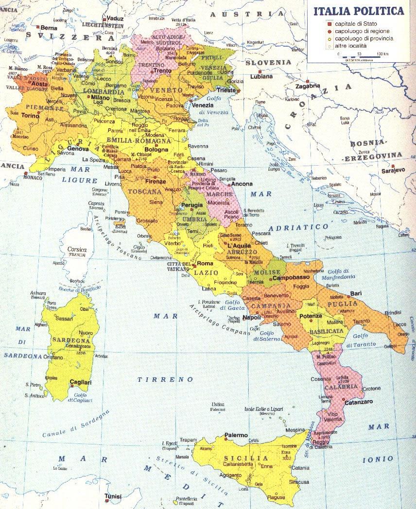 Mapa Completo De Italia - Mapa de italia