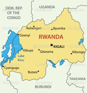 Republic of Rwanda - vector map